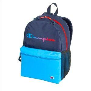 Champion youthquake blue tone backpack w/red NWT